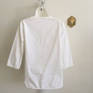 0a87b56a3548ac COS Tops | White Wrap Shirt 34 Sleeve Side Tie Size 8 | Poshmark